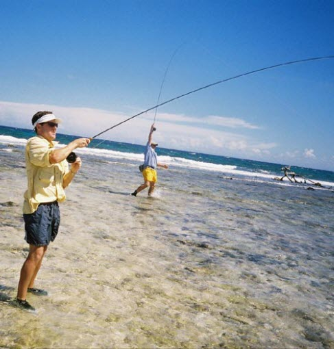 flats fishing on guanaja island